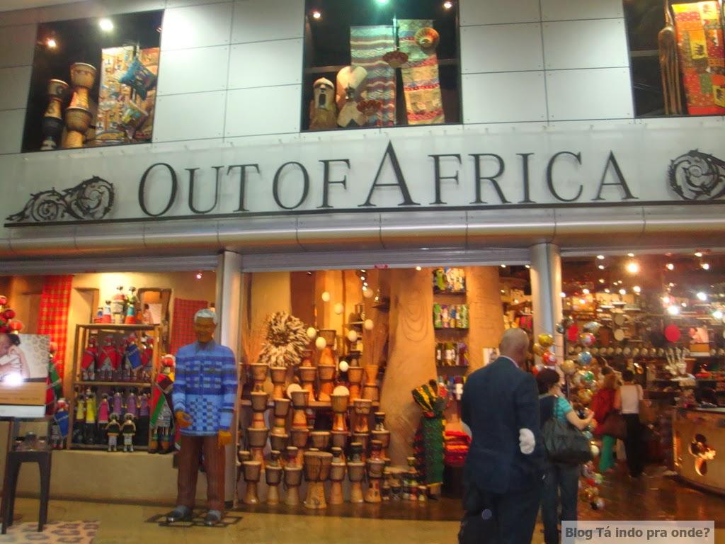 Lojas no aeroporto de Johannesburg