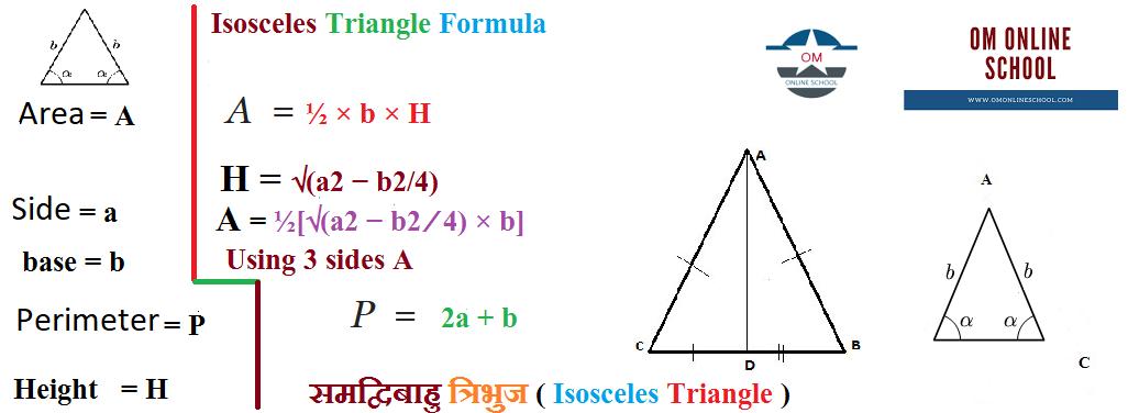 समद्विबाहु त्रिभुज   Isosceles Triangle