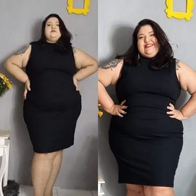 vestido plus size preto marguerite posthaus