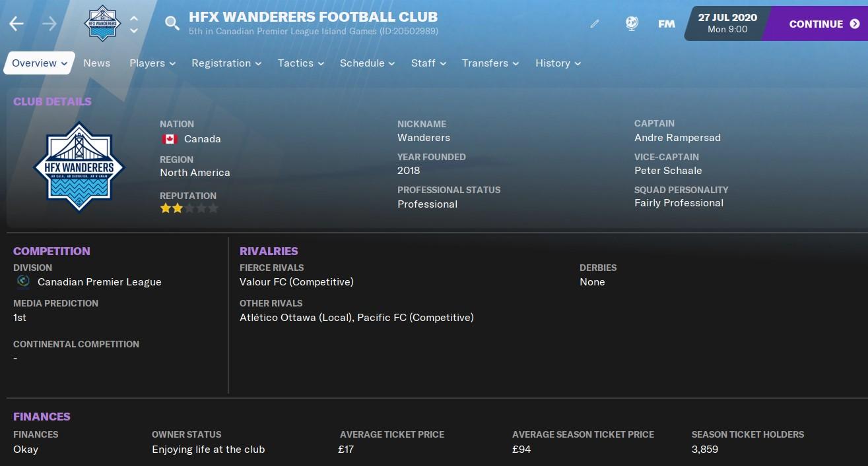 HFX Wanderers FM21