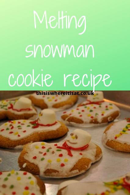 Melting snowman cookie recipe