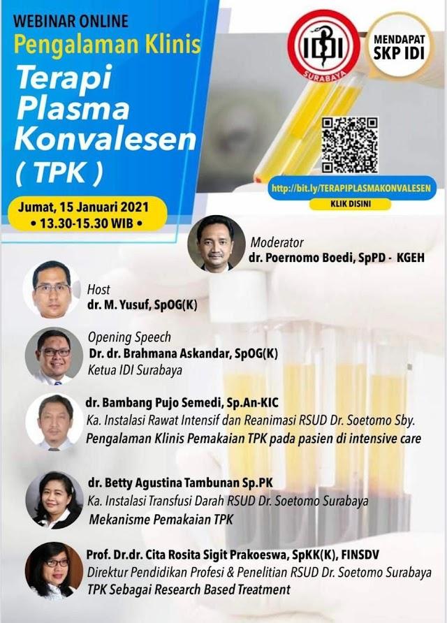 WEBINAR Terapi Plasma Konvalesen (TPK)