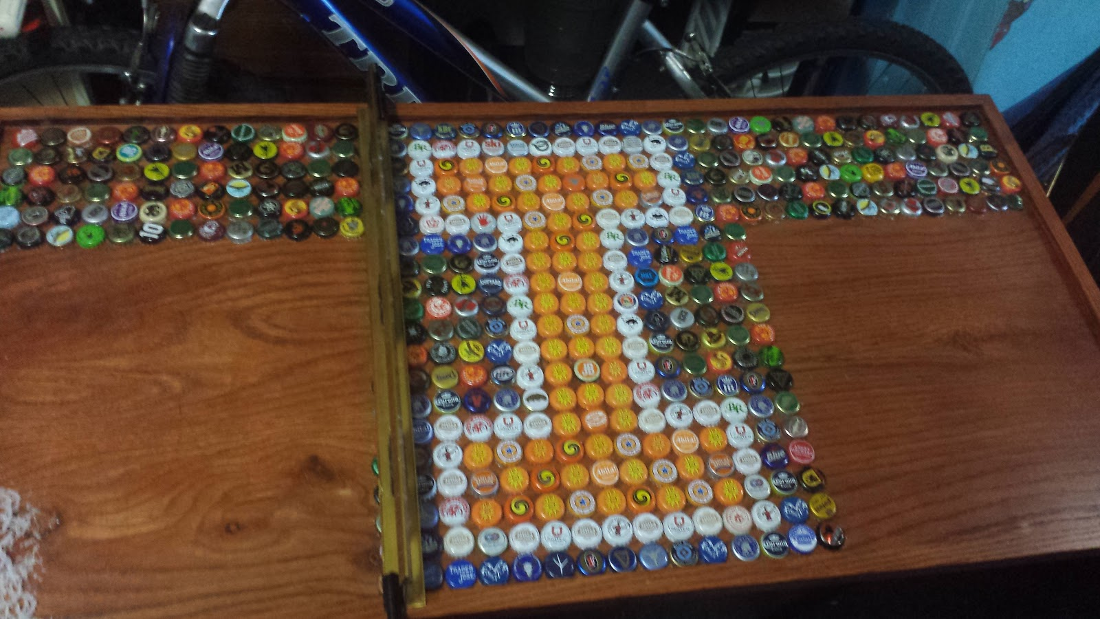 Glue Bottle Caps To Table