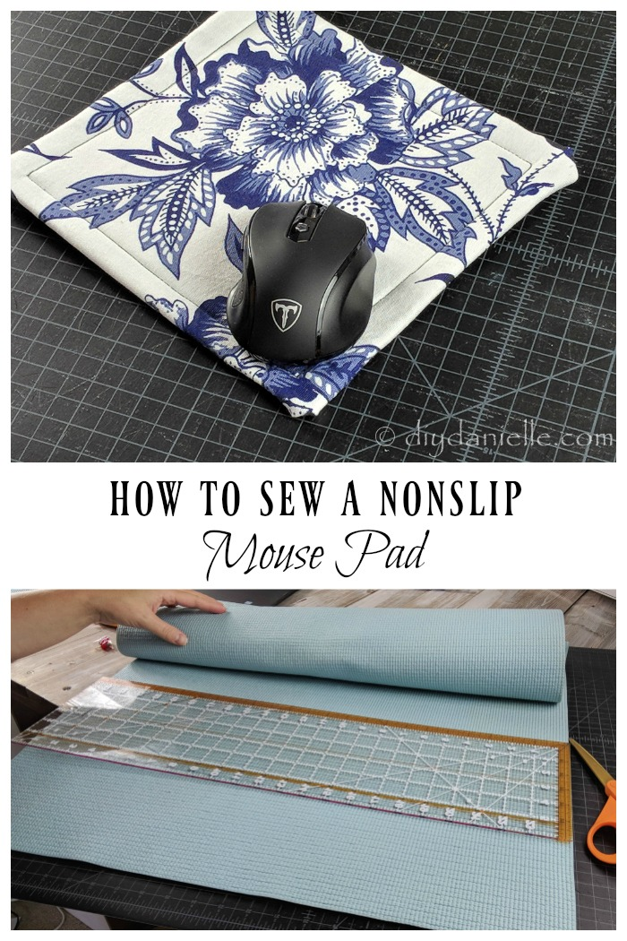 DIY Mousepad from a yoga mat and a piece of fabric.