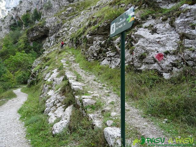 Canal de Reñinuevo: Cruce Senda Tresviso Urdon y Canal de Reñinuevo