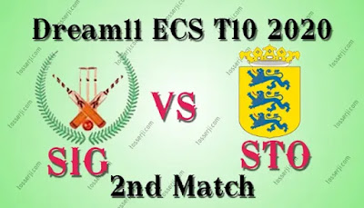 Who will win SIG vs STO 2nd T10 Match