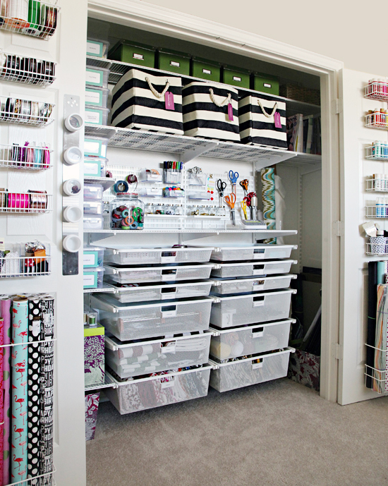 Ordinary Craft Closet Organization Ideas Part - 11: Maximize Your Closets By Utilizing All Area From Wall To Wall And Ceiling  To Floor. Donu0027t Forget The Incredible Amount Of Space Also Offered On The  Backs Of ...
