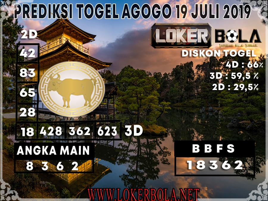 PREDIKSI TOGEL AGOGO LOKERBOLA 19 JULI 2019