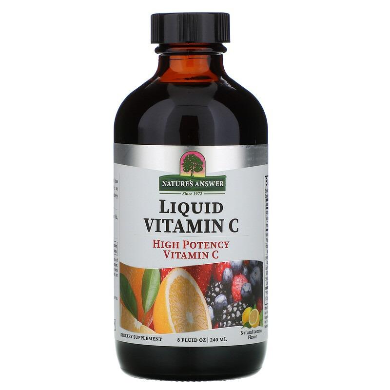 Nature's Answer, Liquid Vitamin C, Natural Lemon Flavor, 8 fl oz (240 ml)