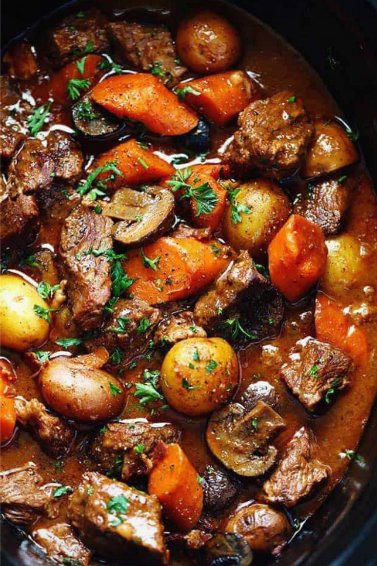 Slow Cooker Beef Bourguignon Recipe