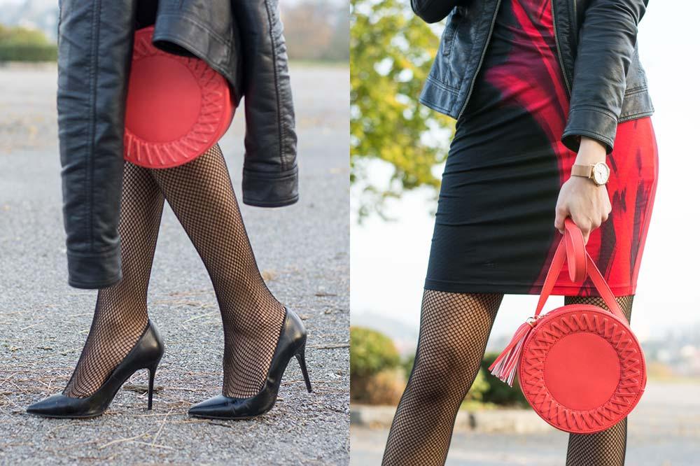 Party in Red Details Schuhe Tasche Uhr