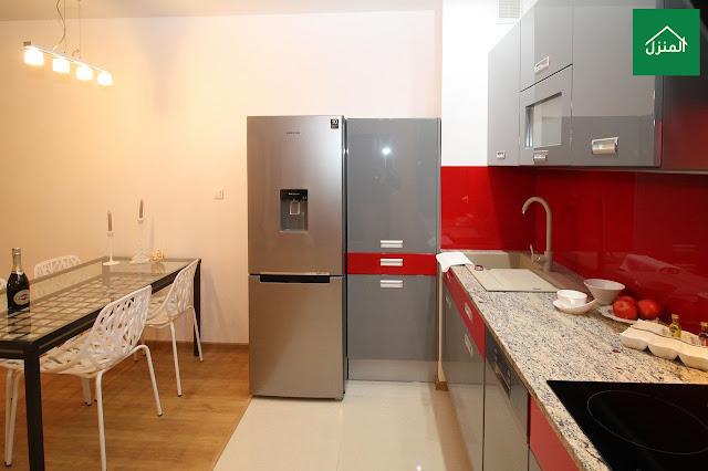 صور ديكور مطبخ أحمر صغير