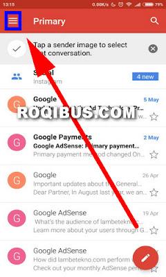 Cara logout gmail di hp menggunakan aplikasi Gmail