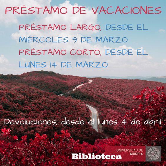 Préstamo vacaciones Semana Santa y Fiestas de Primavera 2016.