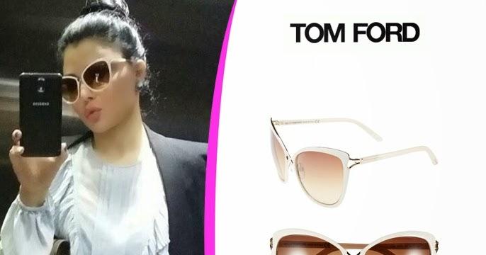 ca3b38c354f99 Haifa wehbe fashion and jewelry  Haifa Wehbe Wearing White Celia Cat Eye  Sunglasses by Tom Ford