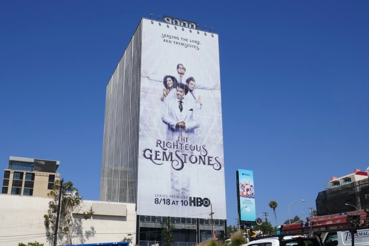 Righteous Gemstones series launch billboard