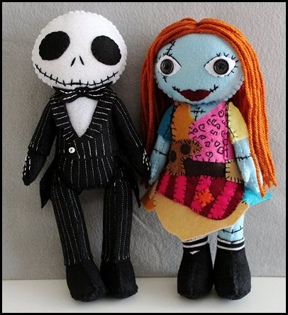 Jack Skellington Nightmare Before Christmas Doll Inspired Felt Doll