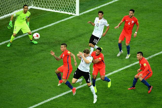 Chile y Alemania en Copa Confederaciones 2017, 2 de julio