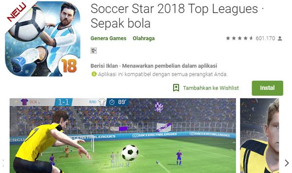 aplikasi bagi pecinta bola secara offline