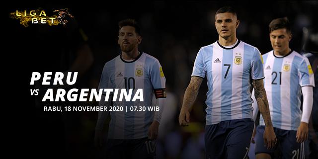 PREDIKSI PARLAY PERU VS ARGENTINA RABU 18 NOVEMBER 2020