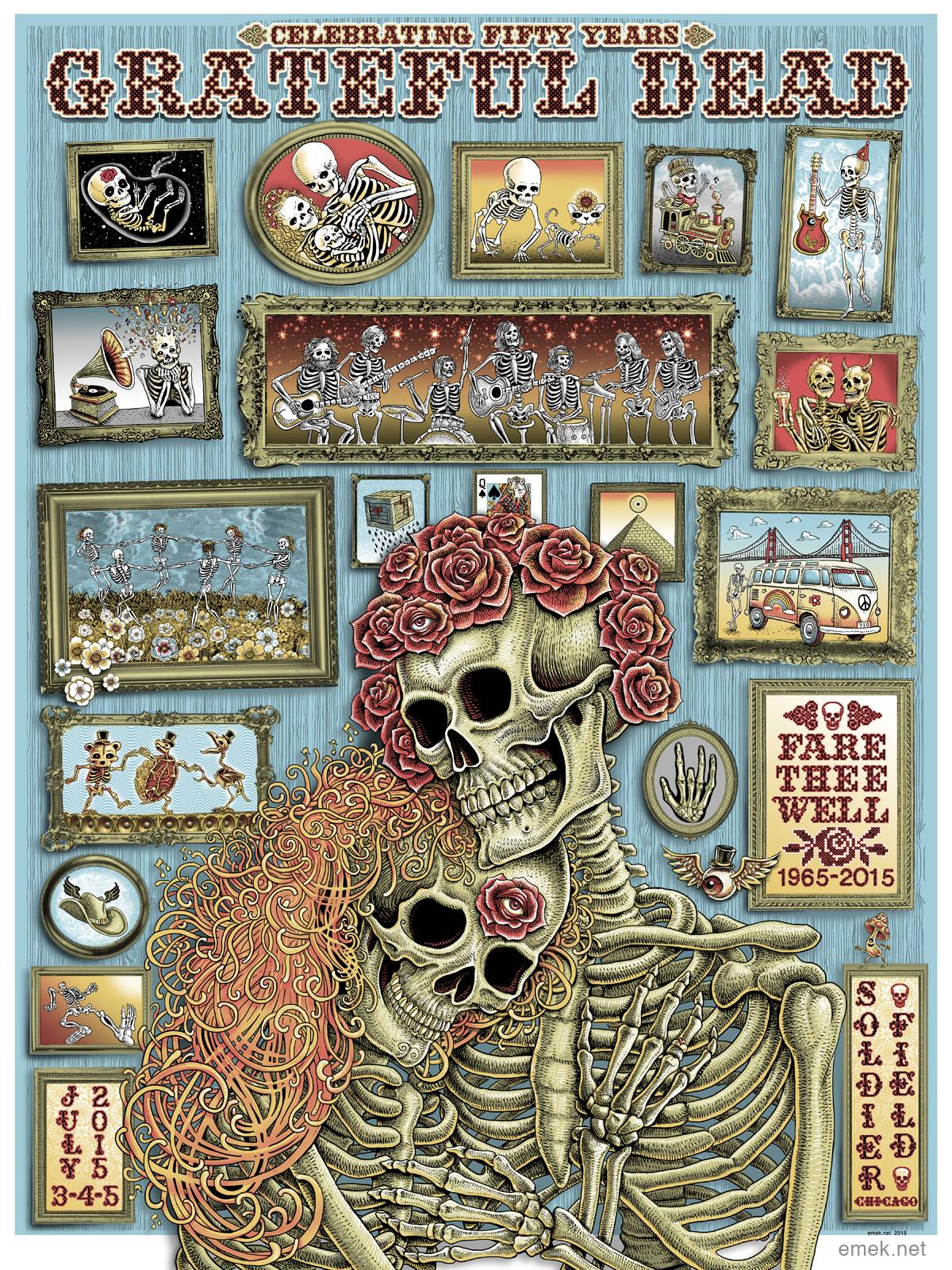 Inside The Rock Poster Frame Blog Emek Grateful Dead
