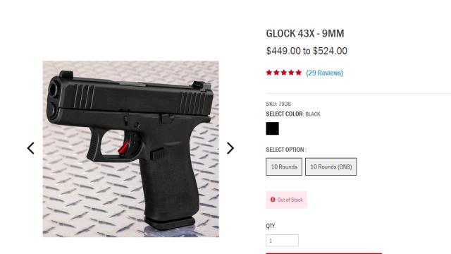 Kemhan Dikabarkan Impor Pistol Glock 43X 9mm Rp21 Juta Per Unit