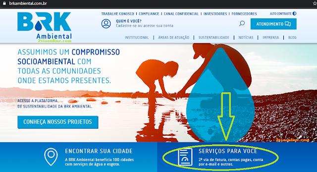 2Via BRK Tocantins pode ser gerada pelo https://www.brkambiental.com.br/