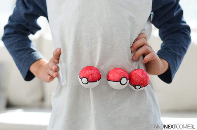 Make a homemade Pokemon trainer belt for kids from And Next Comes L