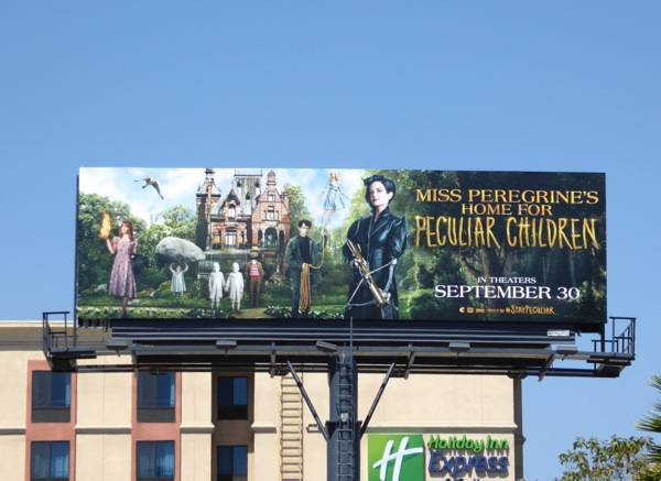 Miss Peregrines Home for Peculiar Children film billboard