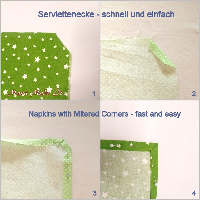 Papier sparen und Stoffserviettennähen - Save paper and sew Cloth Napkins