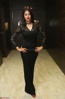 Actress Monica in spicy transparent Black Top at O Pilla Nee Valla Movie Audio Launch Feb 2017 036.JPG