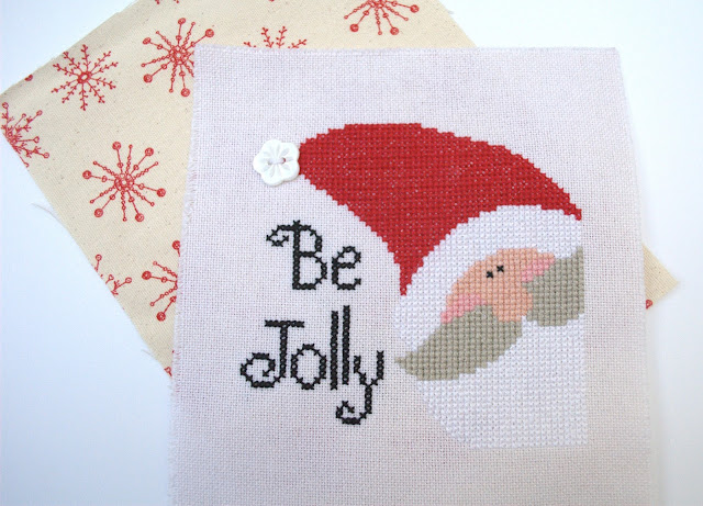 Be Jolly, Just Cross Stitch, Mini cross stitch finish, Christmas, Mini Cushion Finish Preparation, Stitching, Handmade