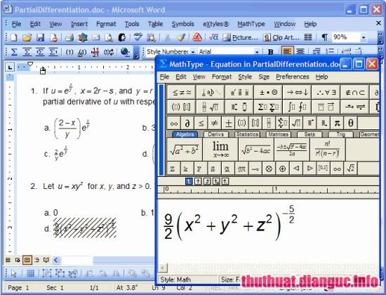 Download MathType 7.4.2.480 full key – Phần mềm soạn công thức toán học