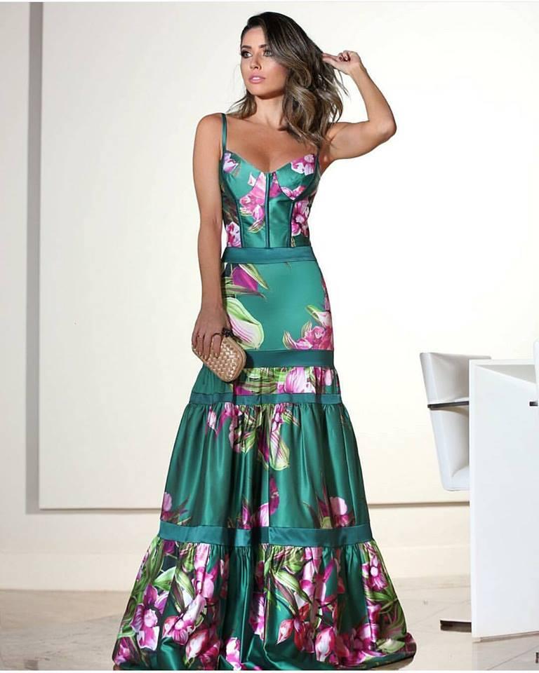 Vestido para casamento de dia florido