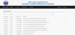 BARC NRB Stipendiary Trainee (Category-I) Result 2021