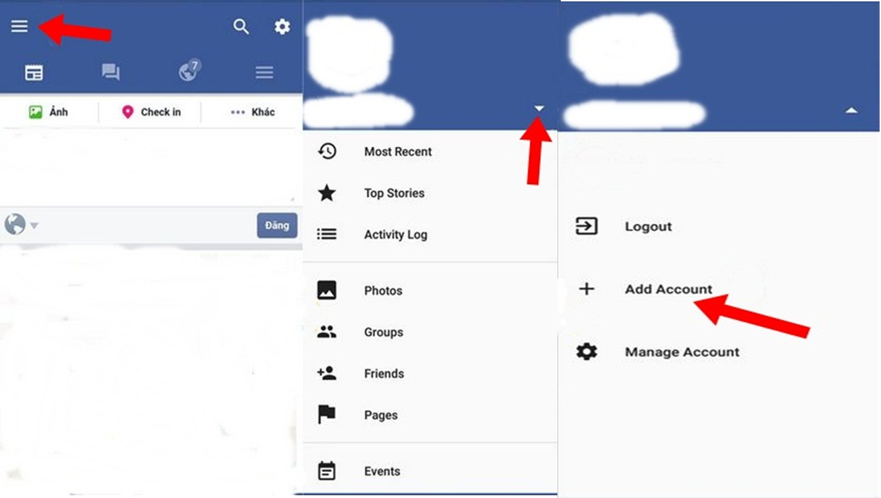 Switch between facebook accounts easily and quickly without much finally your facebook accounts will be listed as in a list therefore you can switch between accounts quickly without logging out the old ones buycottarizona Images