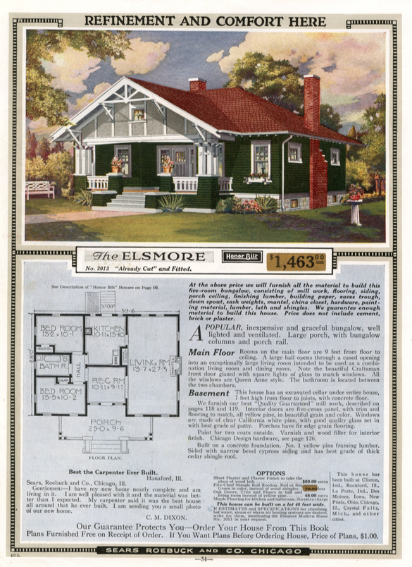 Sears Elsmore 1918 Sears Modern Homes Catalog