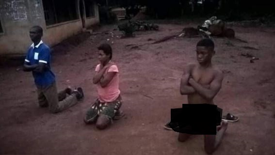 Man And Son Disgraced For Impregnating Daughter In Imo State (Photos)