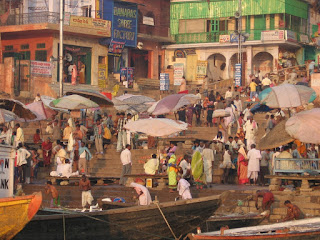 On the banks of the Ganga in Varanasi, India