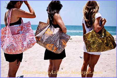 Как пошить простую пляжную сумку.  Очень простой мастер класс по шитью большой и вместительной пляжной сумки.