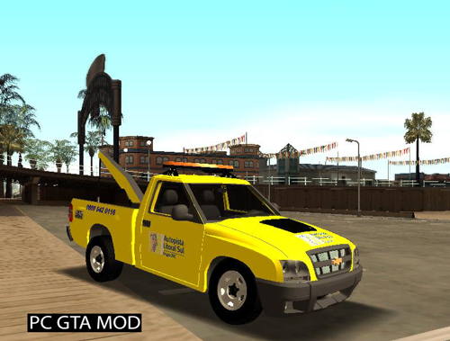 Free Download Chevrolet S10 Guincho Auto Pista Litoral Sul Mod for GTA San Andreas.