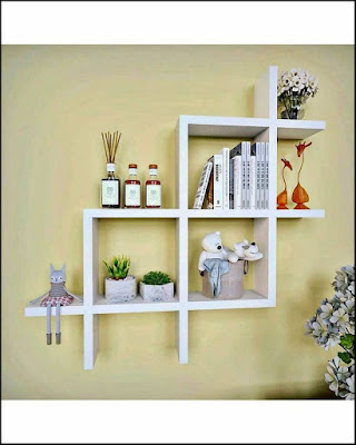 Wooden Wall Shelves Home Supplies Box