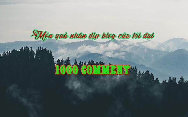 Món quà nhân dịp blog tôi đạt mốc 1000 comments
