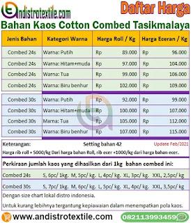 Harga Bahan Kaos Cotton Combed 30s 24s Di Tasikmalaya