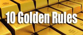 The ten golden rules for stocks investing