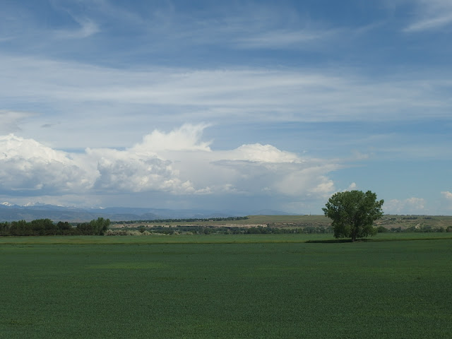 Plains, mountains and big sky in the Boulder area of Colorado