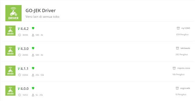 aplikasi gojek driver versi lama