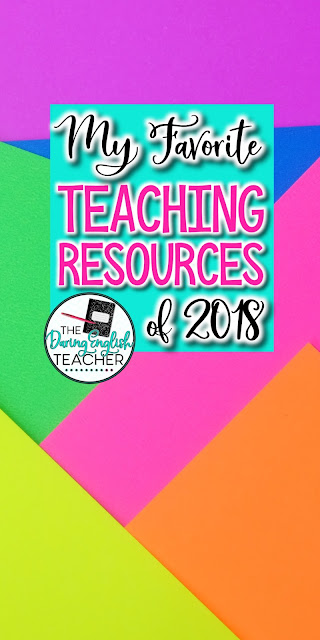 My Favorite New Secondary ELA Teaching Resources of 2018