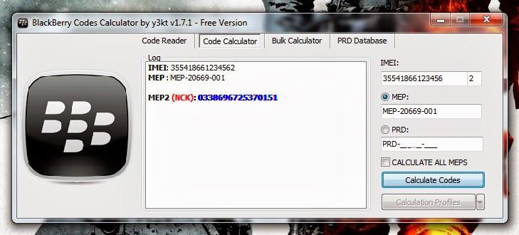 Calculadora de codigos MEP2 de y3kt