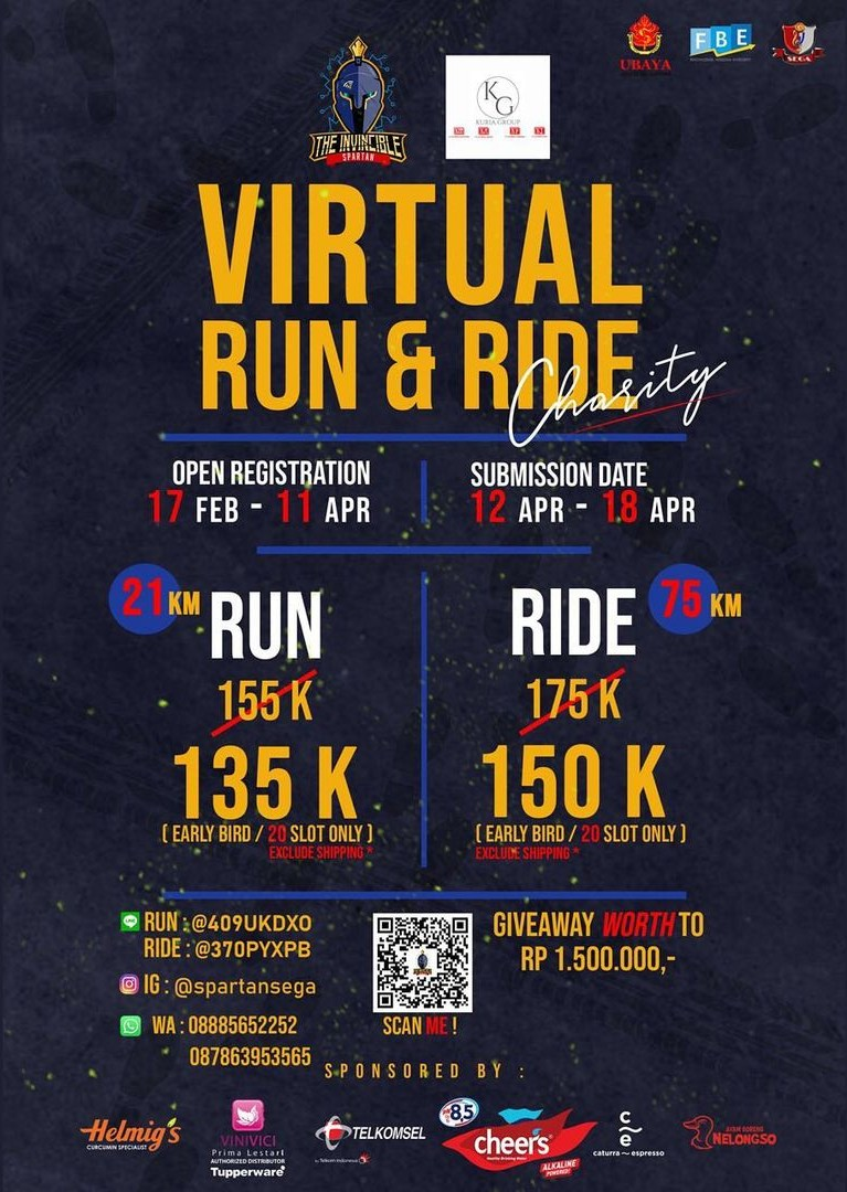 Spartan X - Charity Virtual Run & Ride • 2021